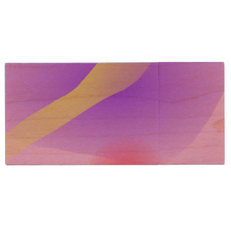 Abstract Lavender Wood USB 3.0 Flash Drive