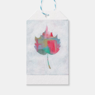 Abstract leaf 2 gift tags