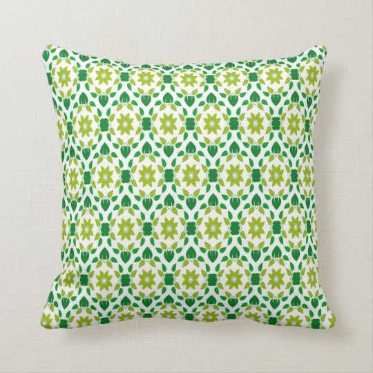 Abstract Leaf Design Throw Pillow