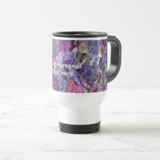 Abstract Leaf Pattern Purple Foliage Travel Mug