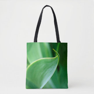 Abstract Leaf Stylish Green Tote Bag