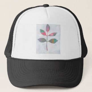 Abstract leaf trucker hat