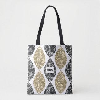 Abstract Leafs custom monogram bags