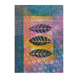 Abstract Leaves Floral Monoprint Wall Art