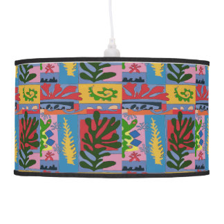 Abstract Leaves &  Flowers Pendant Lamp