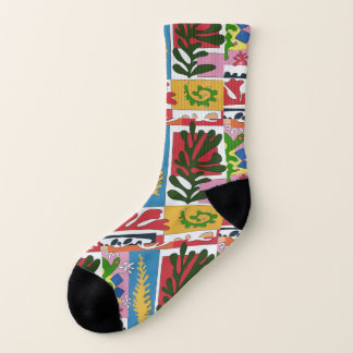 Abstract Leaves, Matisse style Socks