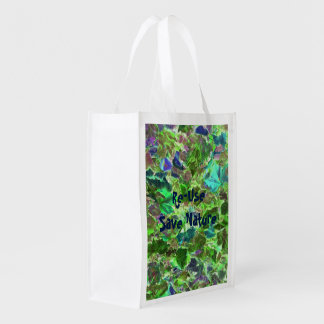 Abstract Leaves Nature Pattern Reusable Grocery Bag