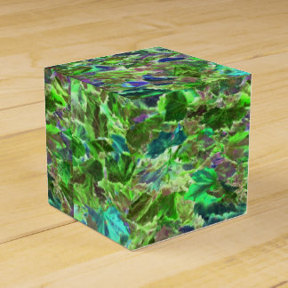 Abstract Leaves Nature Pattern Wedding Favor Box