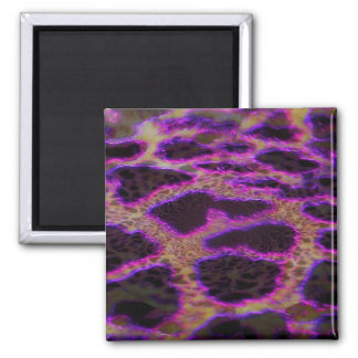 Abstract Leopard Square Magnet