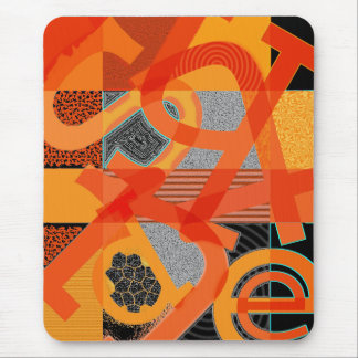 Abstract Letter Art Mouse Pad