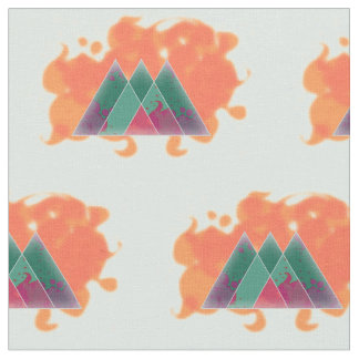 Abstract life triangles fabric