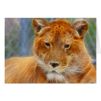 Abstract Liger Card