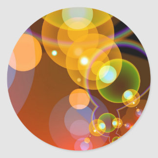 Abstract Light Orbs Classic Round Sticker
