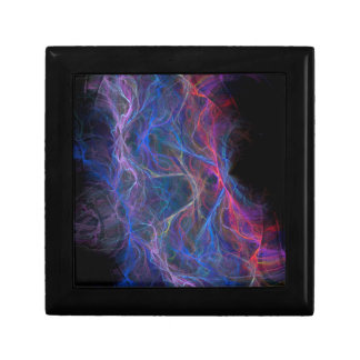Abstract lightning background gift box