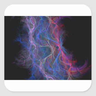 Abstract lightning background square sticker