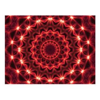 Abstract Lightning Mandala Postcard