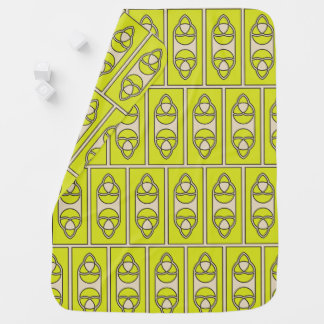 Abstract lime green pattern baby blanket