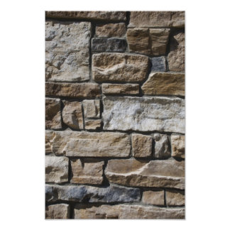 Abstract Limestone Rock Wall Poster