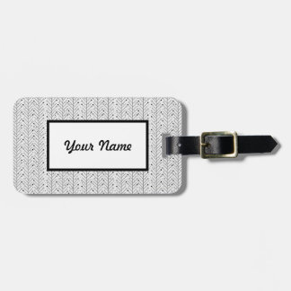 Abstract line pattern luggage tag