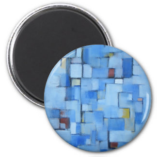 Abstract Line Series 5 2 Inch Round Magnet