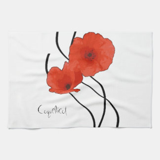 Abstract linen of kitchen Poppies Kitchen Towel