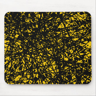 Abstract Lines - Amber Mouse Pad