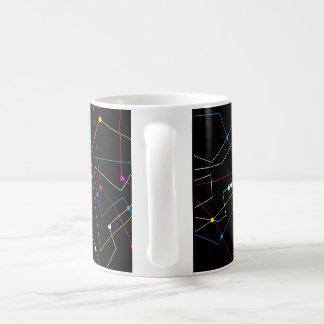 Abstract Lines Classic White Coffee Mug