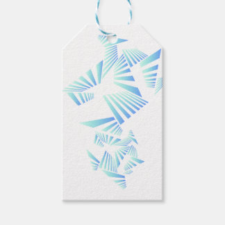 abstract lines design gift tags