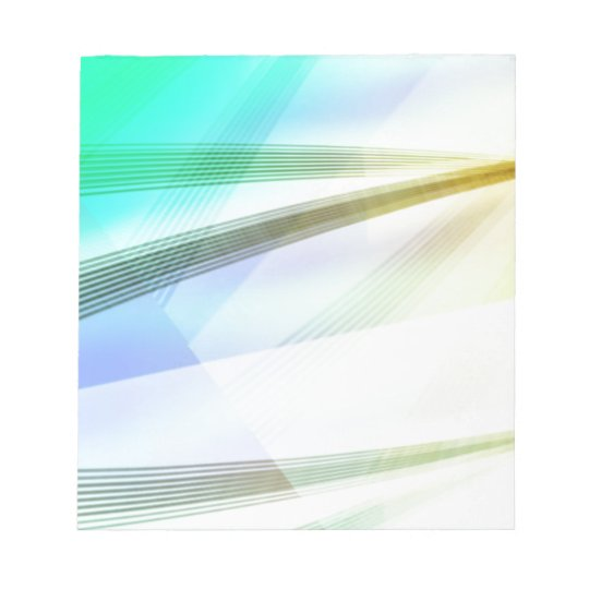 Abstract Lines in soft colours Notepad