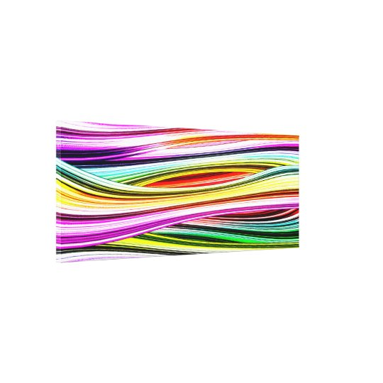 Abstract Lines of Colour Canvas Print