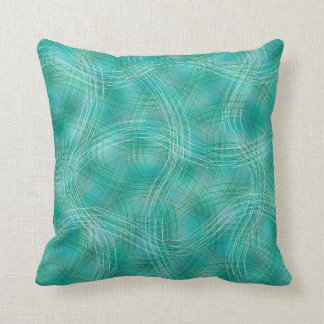 Abstract Lines Pattern- Emerald Green Pillows