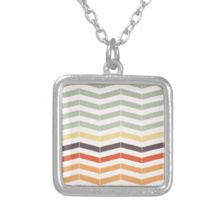 Abstract lines silver plated necklace