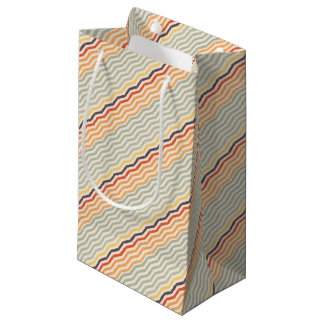 Abstract lines small gift bag