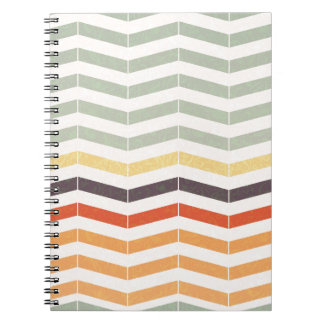 Abstract lines spiral notebook