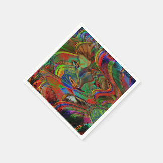 Abstract Lion Disposable Napkin