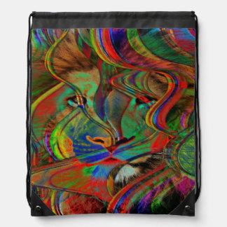 Abstract Lion Drawstring Bag