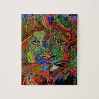 Abstract Lion Jigsaw Puzzle