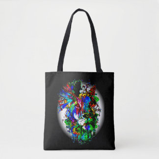 abstract lion print for bag