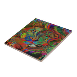Abstract Lion Tile