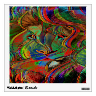 Abstract Lion Wall Sticker