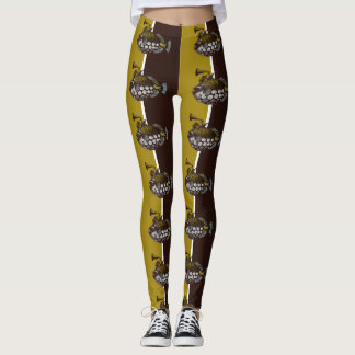 Abstract Lionfish Leggings