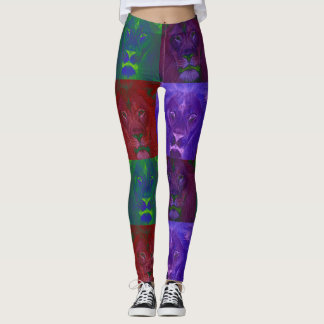 Abstract Lions Leggings