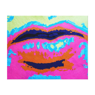 Abstract Lips Wrapped Canvas Prints