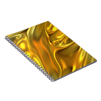 Abstract Liquid Gold Notebooks