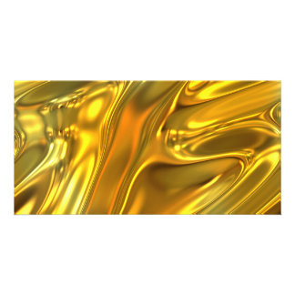 Abstract Liquid Gold Photo Cards