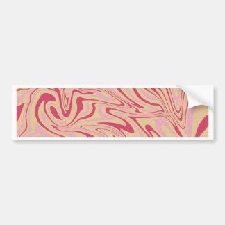 Abstract liquid pattern bumper sticker