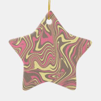 Abstract liquid pattern ceramic ornament
