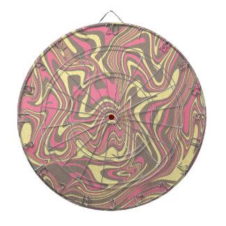 Abstract liquid pattern dartboard