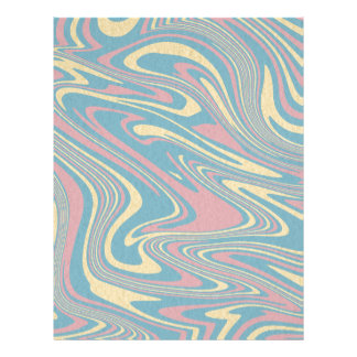 Abstract liquid pattern letterhead