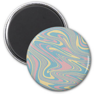 Abstract liquid pattern magnet